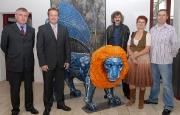 Löwen-Stark mit neuem Löwen in Mannheim